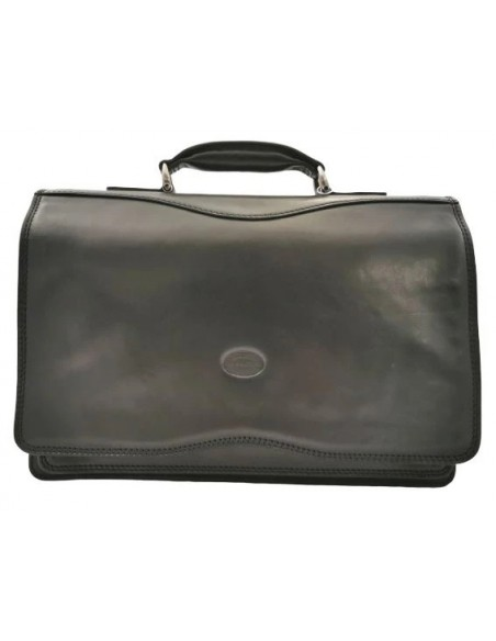 3 compartment briefcase with long flap (4003)