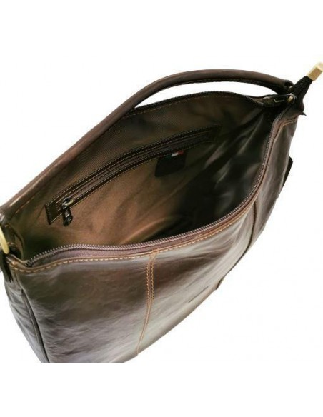De Martino buffalo leather shoulder and crossbody bag (4113)