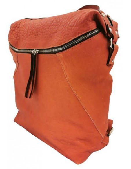 De Martino large distressed leather backpack (6001)