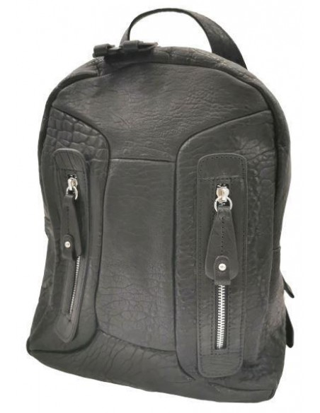 De Martino distressed leather backpack (6031)