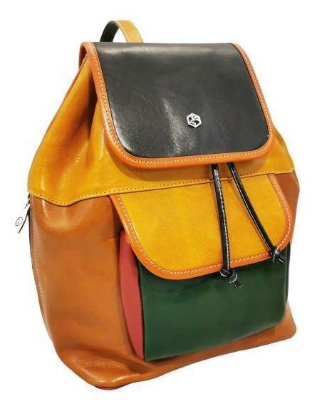 Multicolour  Valentina buffalo leather backpack (19380)