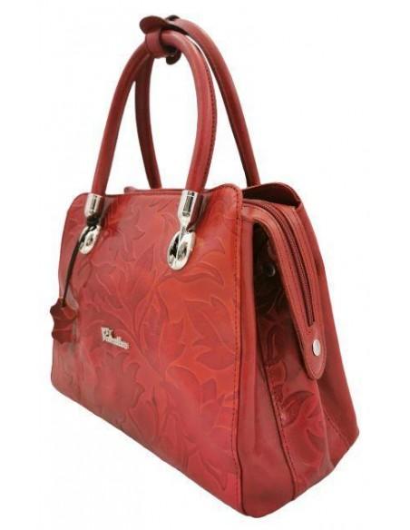 Valentina floral buffalo leather handbag/shoulder bag (1203)