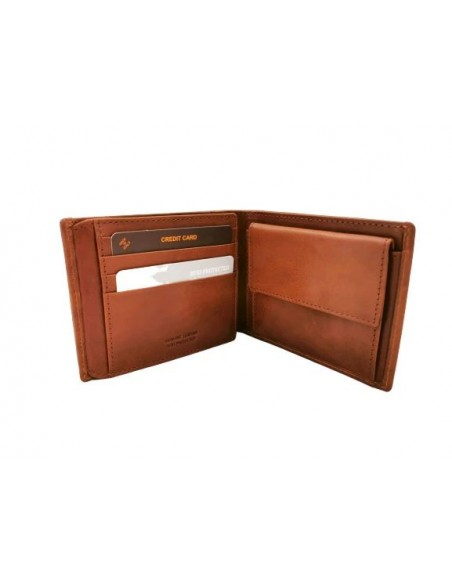 Buffalo leather wallet with coin pouch (kt004)