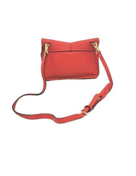 De Martino pebbled leather shoulder and crossbody bag (9006alce)