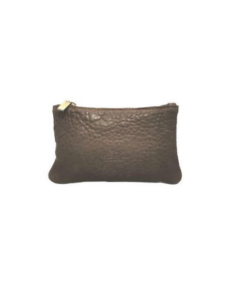 Small De Martino distressed leather crossbody bag (201)