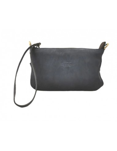 De Martino distressed leather wristlet with crossbody strap (205Texas)