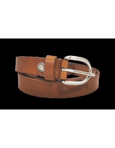 2.5 cm solid leather ladies belt