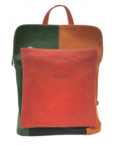 Valentina multicolour backpack and crossbody bag