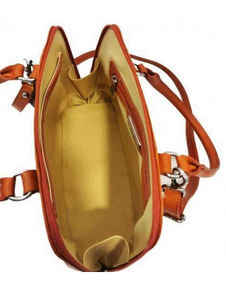 Small Valentina buffalo leather handbag and shoulder bag (1821)