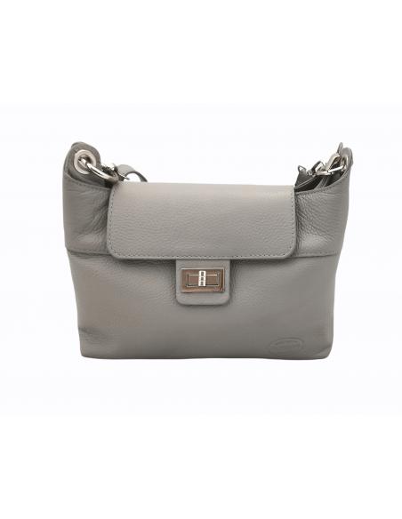 De Martino soft leather crossbody bag with clip decoration (530)