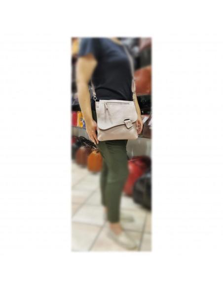 De Martino pebbled leather crossbody bag (532)