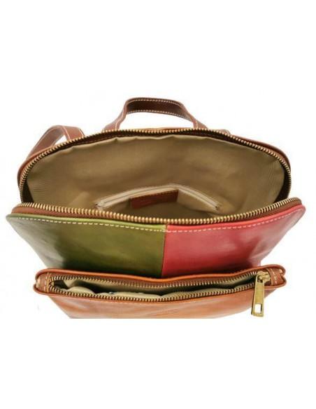 De Martino multicolour buffalo leather multiway backpack  (314)