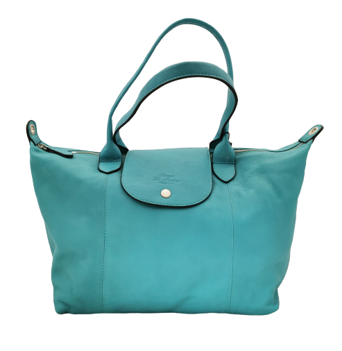 Soft leather De Martino longchamp style shopping bag