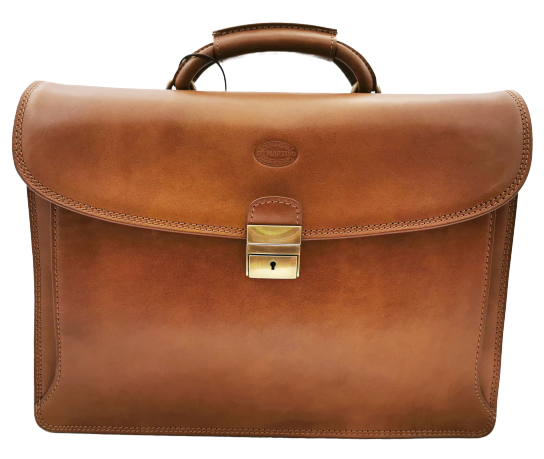 De Martino buffalo leather briefcase