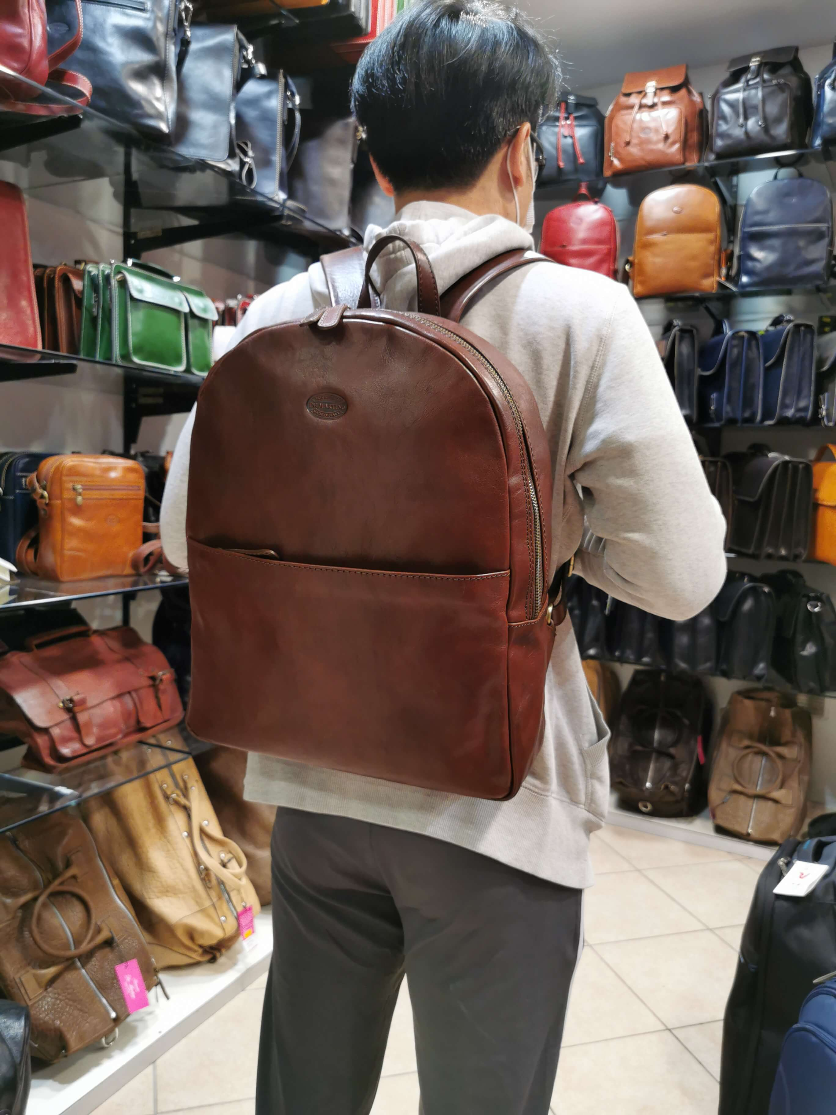 Buffalo leather professional backpack