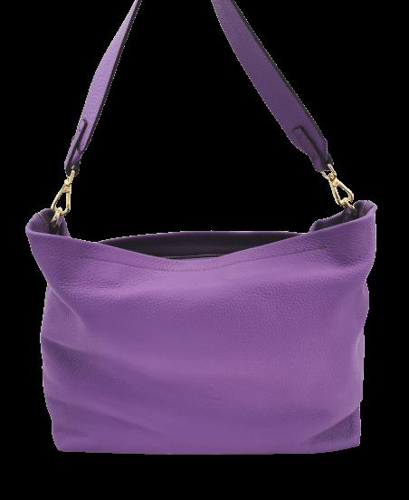 Soft pebbled leather De Martino handbag
