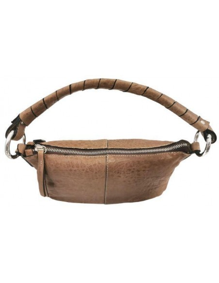 De Martino small distressed leather shoulder and crossbody bag (9071)