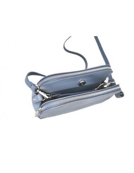 Small De Martino 3 compartment crossbody bag (423)