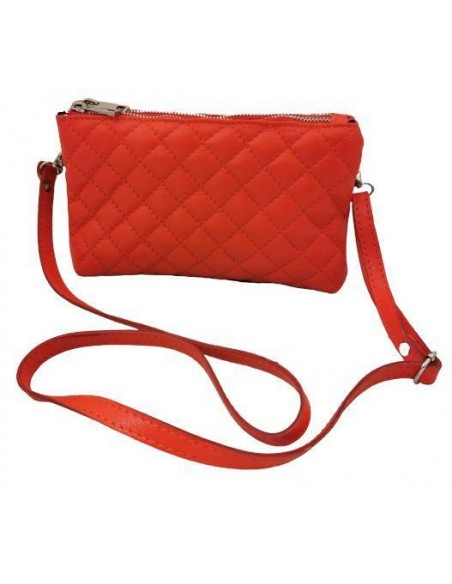 Soft leather crossbody and clutch bag.  (369)