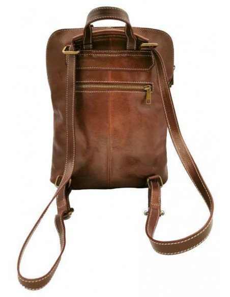 De Martino multicolour buffalo leather multiway backpack  (314)